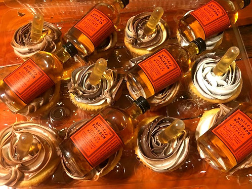 1 Dozen - Bulleit Bourbon Cupcakes