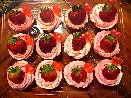 1 Dozen Red Berry Ciroc Cupcakes