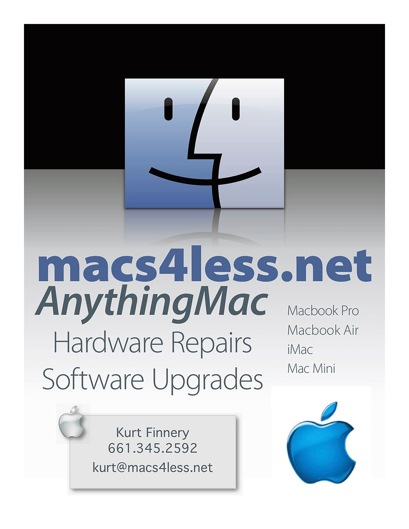 macs4less.net apple mac computer repair sales refurbish Bakersfield