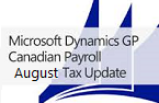 Microsoft Dynamics GP August 2014 Tax Update