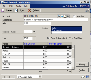 View Net Change and Period Balances