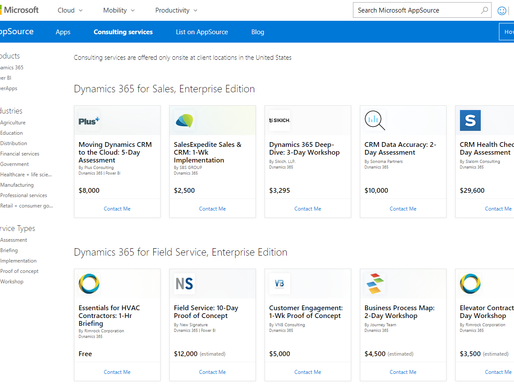 Consulting Services Are Now Offered On Microsoft Dynamics AppSource