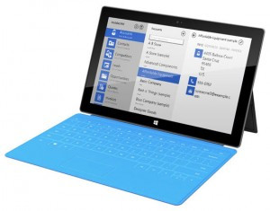 Resco Mobile on Microsoft Surface