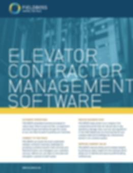 Elevator Contractor Management Brochure.