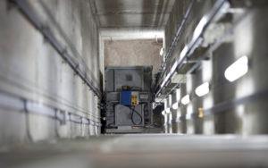 inside a elevator shaft