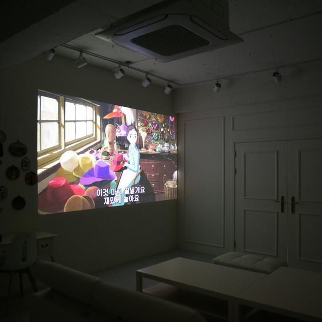 120인치 빔프로젝터/노트북