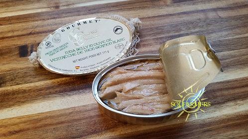 Gourmet White Tuna Belly (Ventresca de Bonito del Norte) in olive oil