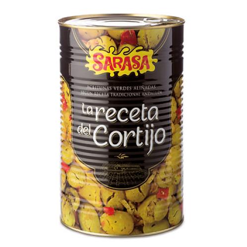 "Green Olives ""Receta del Cortijo"" by Sarasa 4.6Kg"