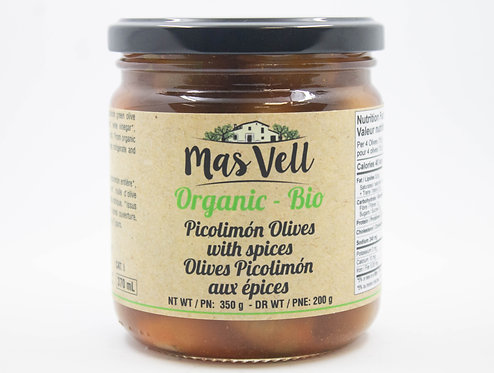 MAS VELL ORGANIC PICOLIMON OLIVE SPICES 370ML