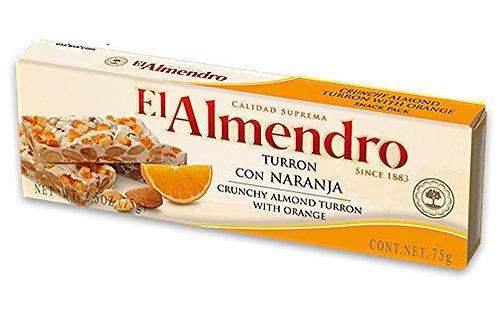 El Almendro Turron Crunchy Almond with Orange 75Gr