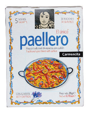 Paellero Carmencita Traditional spice blend with safron 20gg