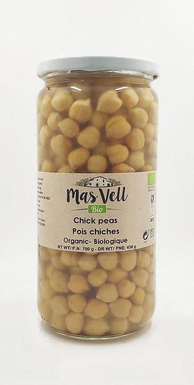 MasVell Organic Chickpeas Pedrosillano in Brine 700 gr