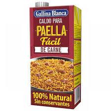 Meat paella broth Gallina Blanca 1L