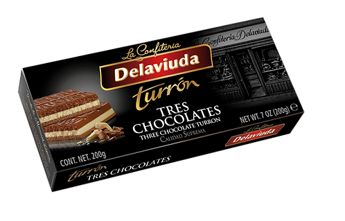 Delaviuda Three Chocolates  200gr