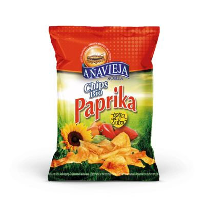Organic Potato Chips in Sunflower Oil ''Paprika''