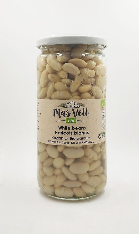 MasVell Organic White Beans in Brine 700 gr