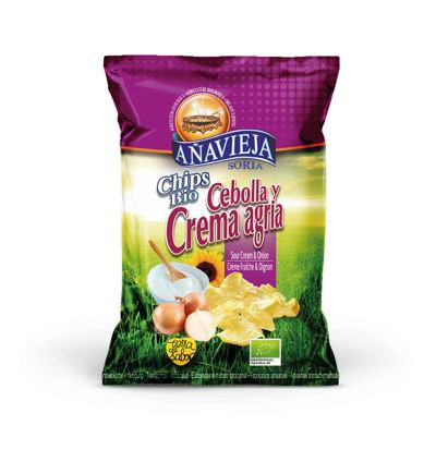 Organic Potato Chips in Sunflower Oil ''Sour Cream and Onion''