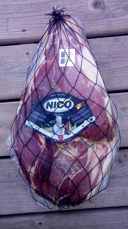 Reserva Serrano Ham +18 Months, Bone Less 4,67 Kg by Nico