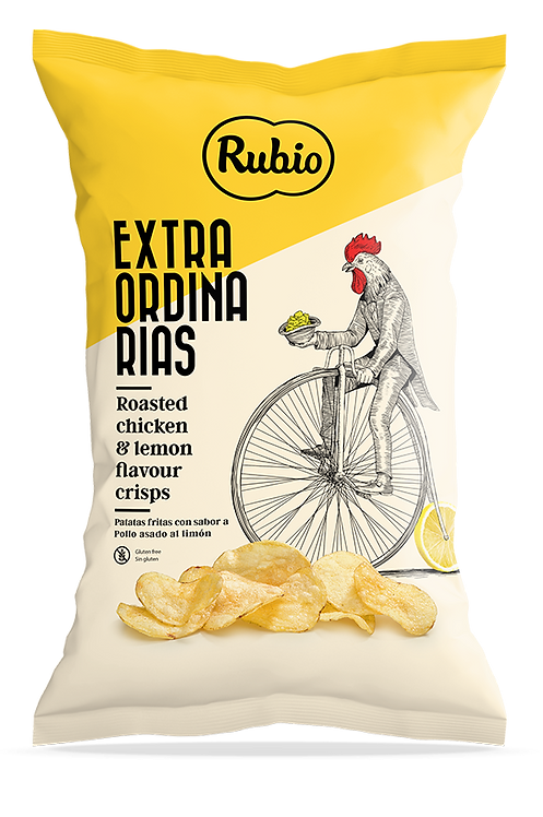 Extraordinarias Potato Chips Roasted Chicken and Lemon Flavoured
