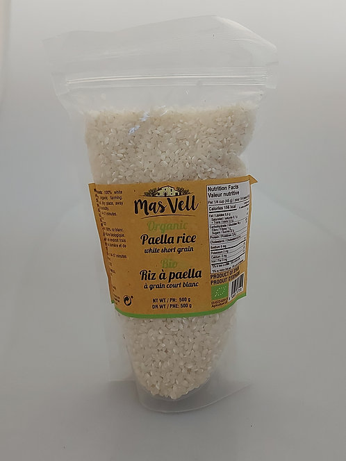 Organic Paella Rice MasVell 500gr