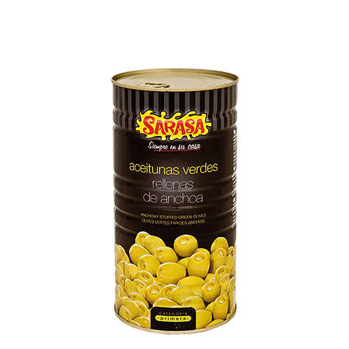 Anchovy Stuffed Manzanilla Olives by Sarasa1.4kg