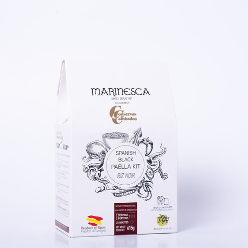 Spanish Black Paella Kit By Conservas Cambados