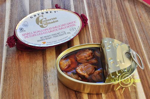 Gourmet Small Scallops in Galician Sauce