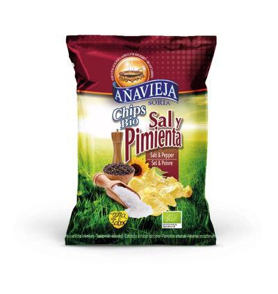 Organic Potato Chips in Sunflower Oil ''Salt and Pepper''