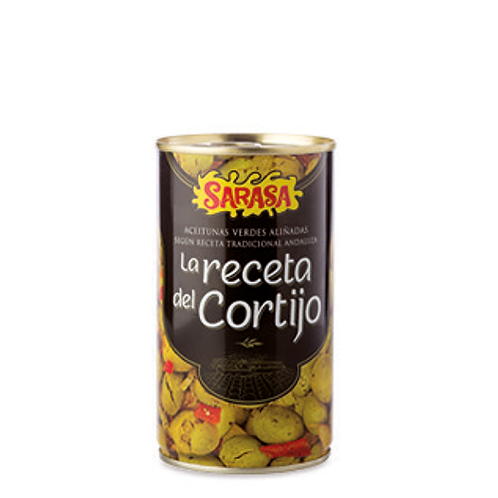 "Marinated Green Olives ""Receta del Cortijo"" by Sarasa 370ML"