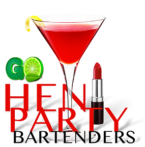 Hen party bartenders banner