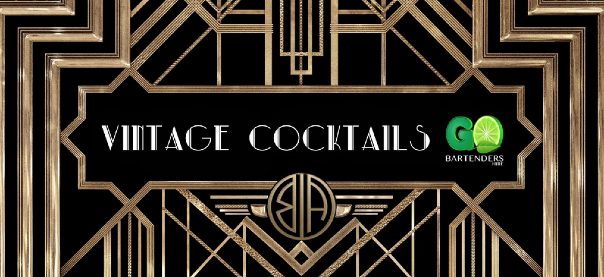 Vintage cocktails & bartenders hire
