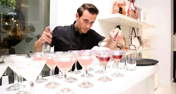 cocktail bartender in Bath and Bristol Hire bartenders barman barmen barstaff bar staff Devon