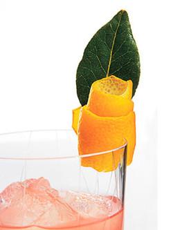 Orange peel twist and mint.
