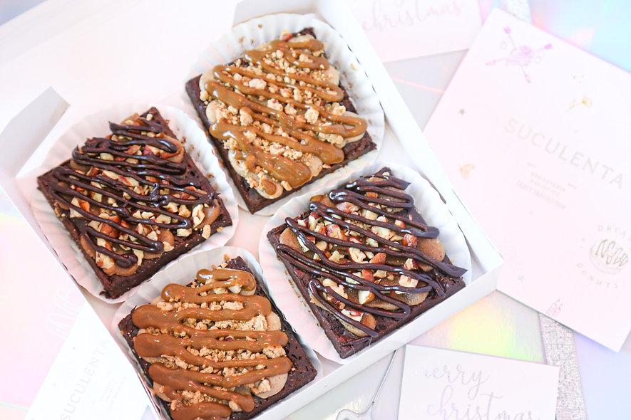 Caja Vegan Fudgy Brownies