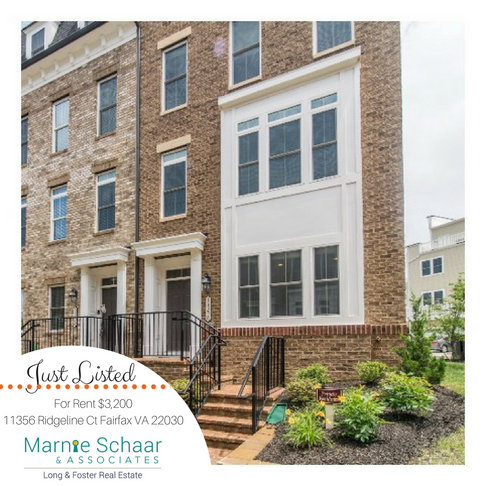 Spectacular 4 Level, 4 Bedroom, 4.5 Bath End-Unit Townhouse with 2 Car Garage - For Rent!