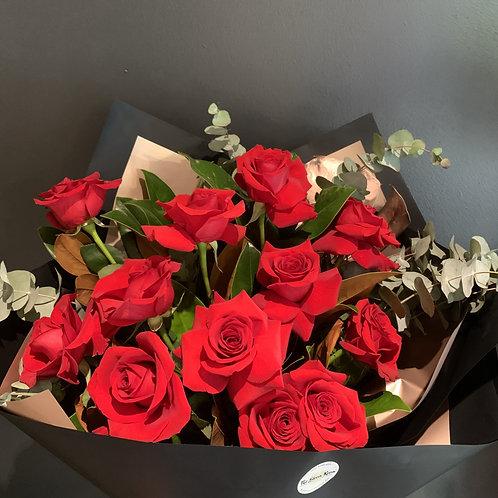 1 Dozen Red Rose Bouquet