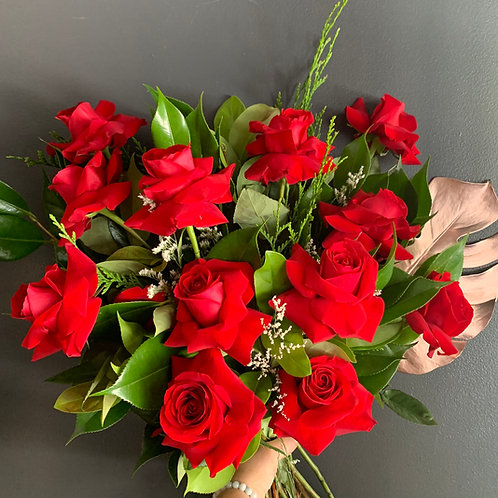 1 Dozen Red Rose Bouquet
