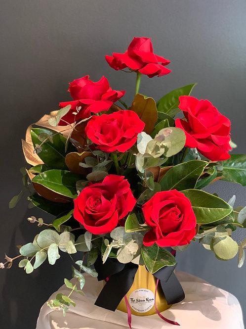 1/2 Dozen Red Rose Gold Pot