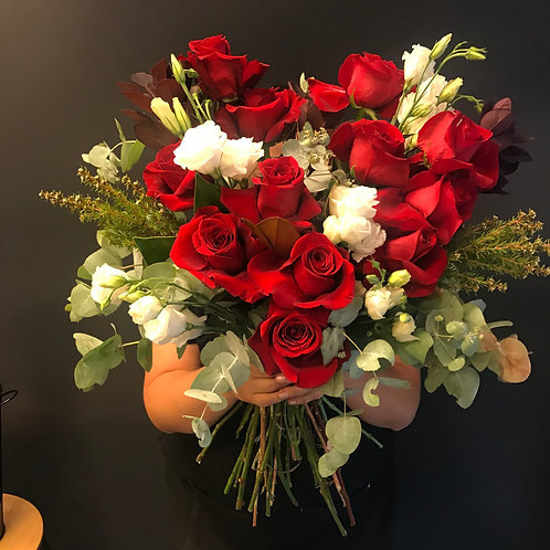 2 Dozen Red Rose Bouquet