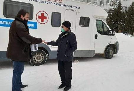 На мобильном ФАПе прививку от COVID-19 сделали 27 жителей го Луховицы