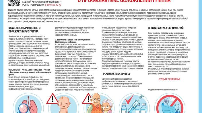 О профилактике осложнений гриппа