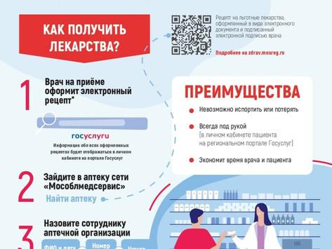 Электронный рецепт на льготные лекарств