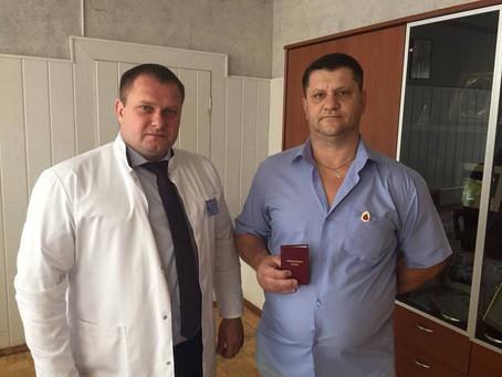 Валентин  уже 11 лет сдает кровь для пациентов Зарайской больницы.