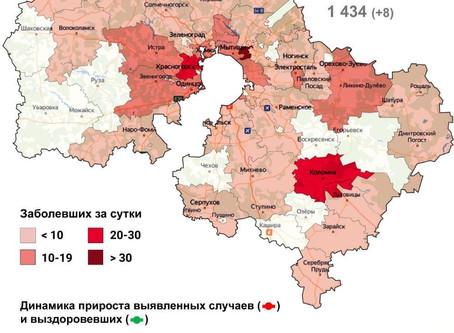 За сутки 14 октября 2020 года в городском округе Луховицы выявлено 7 случаев заболевания коронавирус
