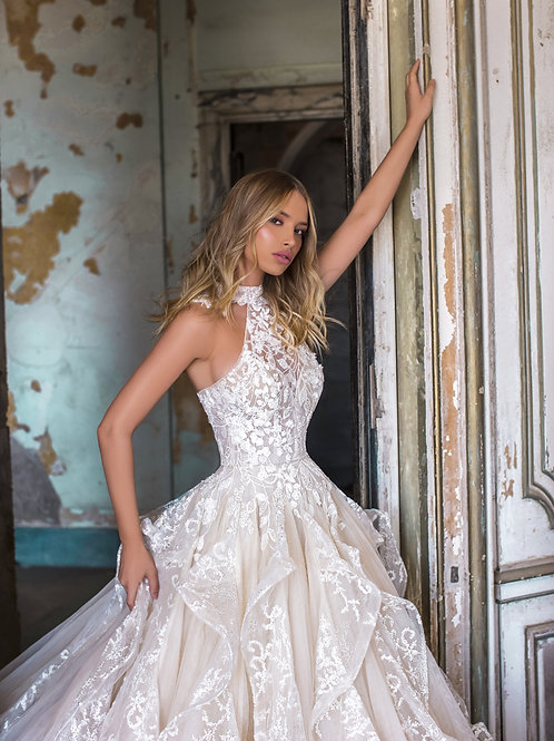 Wona Concept Anita wedding dress side - Superior Bridal Couture Toronto