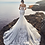 calla blanche iris wedding dress back