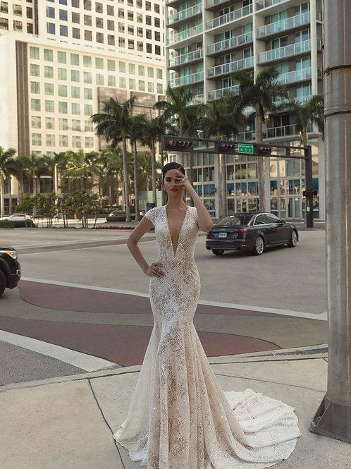 Wona Concept Olivia wedding dress front - Superior Bridal Couture Toronto