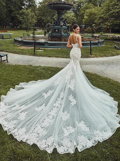 Calla Blanche Farrah wedding dress back