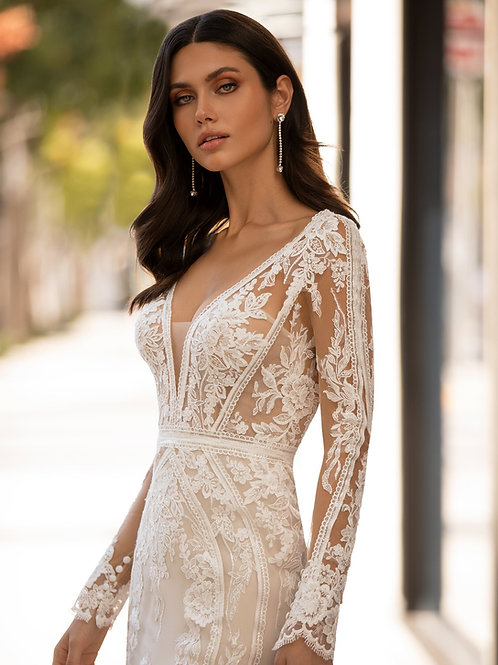 Pronovias long sleeve wedding dress