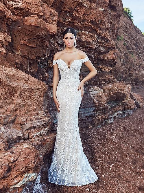 calla blanche tabitha wedding dress front
